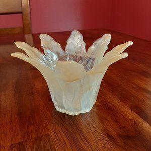 Murano Accents - Murano Italian Glass Candle Holder / Candy Dish